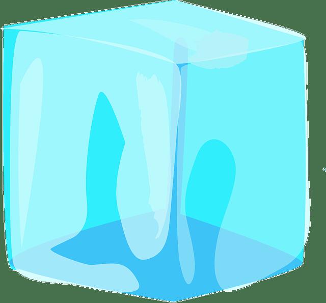 kostka zimnego lodu